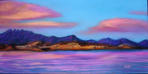 Pastel of Lake Mead