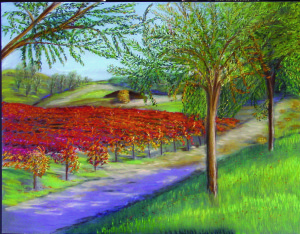 Temecula Wine Country, Vineyard Art, Wine Art