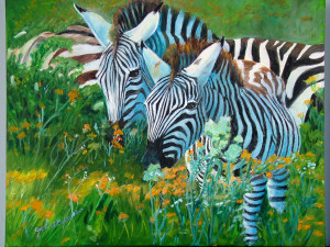 The grazing zebras in African and most are endangered.